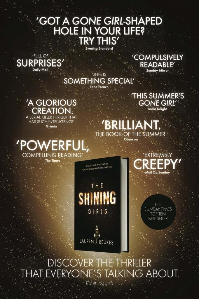 The Shining Girls Tube ad London Underground