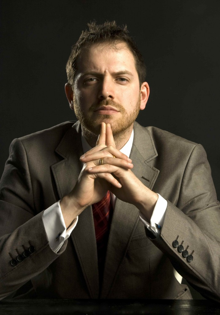 Joe abercrombie in a suit