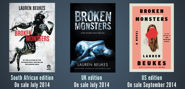 Broken Monsters covers for website